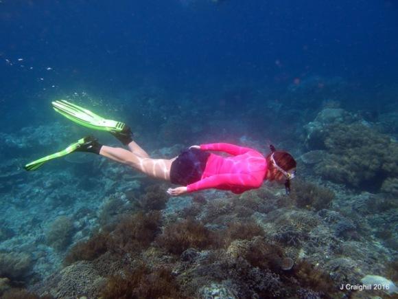 me - free diving underwater